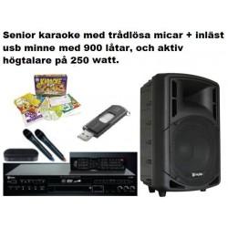 """Karaokespelare & 12"""" Aktiv högtalare mm"""