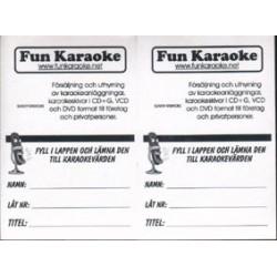 (G) Song request block till karaokevärdar och KJ's
