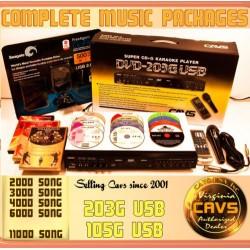 Karaokepaket/set CAVS 203 G USB med 8500 låtar
