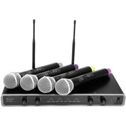 Omnitronic 104 UHF - 4 Mikr trådlöst XLR-XLR sladd & puffkydd