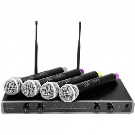 Omnitronic UHF 104 - 4 Mikr trådlöst