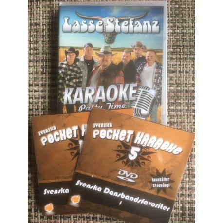 Lasse Stefanz DVD Karaoke 20 låtar