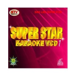 Super Star Karaoke VCD/DVD 1 Röd 15 disc set