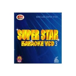 Super Star Karaoke VCD/DVD 3 Blå 15 disc set